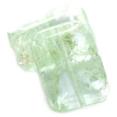 briques quartz vert mousse 14 x 20 mm