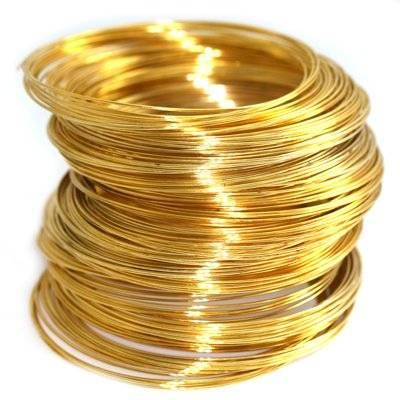 drut z pamięcią kolor złoty 5.5 cm