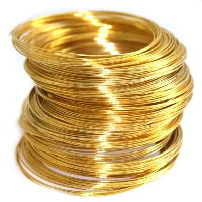 alambre con memoria color dorado 5.5 cm