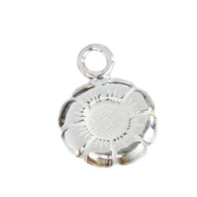 argento 925 fiore ciondolo