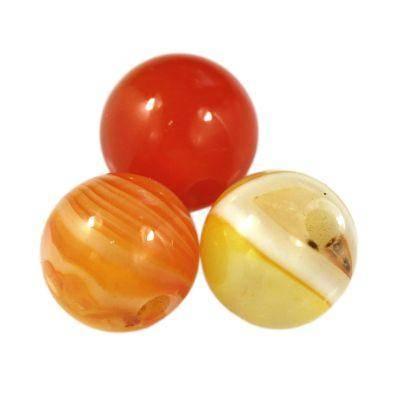 round smooth agate orange 6 mm