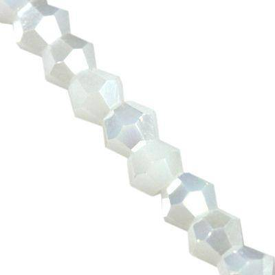 Crystaline toupies blanches solides AB 2 mm / perles de cristal