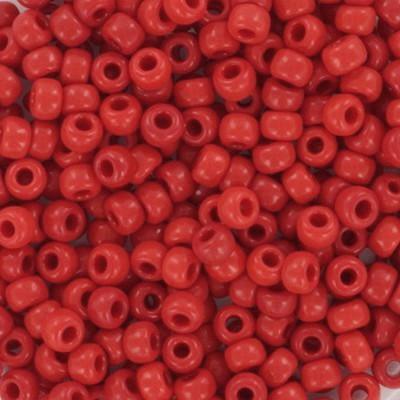 Miyuki round beads opaque red 8/0 #8-408