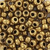 Perles Miyuki rocailles 6/0 metallic dark bronze #6-457