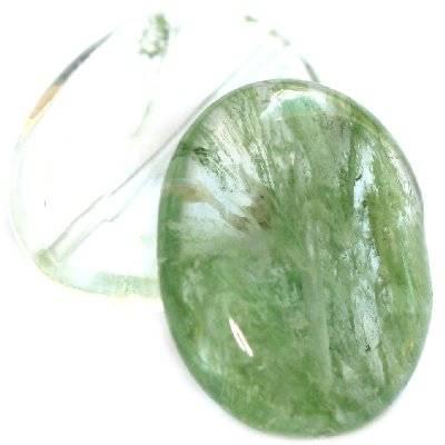 ovales quartz vert mousse 15 x 20 mm