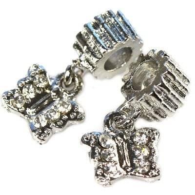 modular beads butterfly 10 x 10 mm