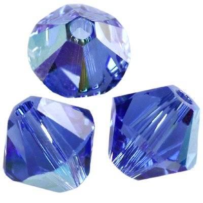 Swarovski bicone beads sapphire ab 4 mm