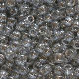 Toho beads round transparent-lustered black diamond 2.2 mm TR-11-112