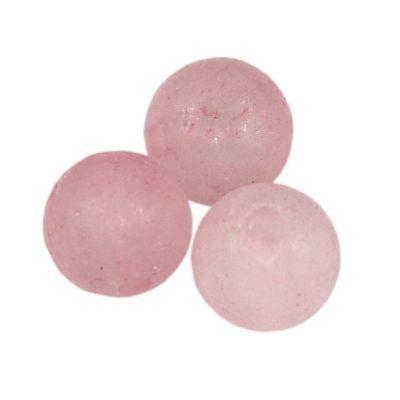 matowy kwarc różowy 6 mm kamień naturalny barwiony