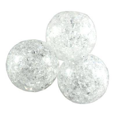 mountain crystal crackle beads natural 10 mm / semi-precious stone