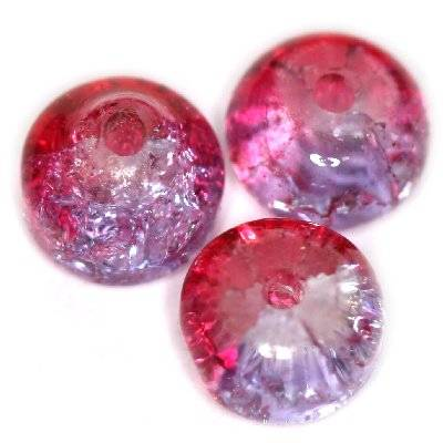 perles de crépitement RONDELL rose 8 x 5 mm
