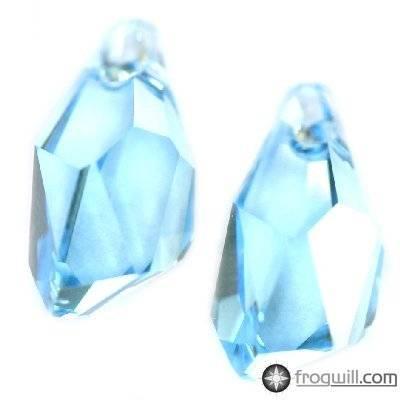 Swarovski polygon drop pendants aquamarine 13 mm