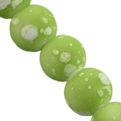 koraliki gumowane galactic zielone 4 mm