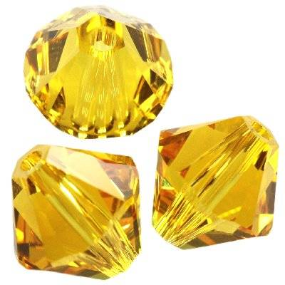 Swarovski bicone beads sunflower 4 mm