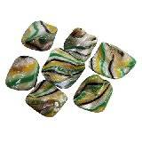 mother of pearl nuggets yellow waves 10-18 mm