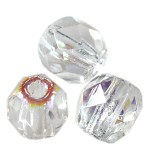 Fire Polish 2mm crystal ab koraliki fasetowane