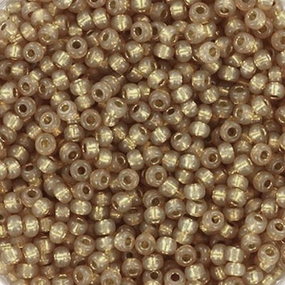 Miyuki round Perlen duracoat silverlined dyed topaz gold 11/0