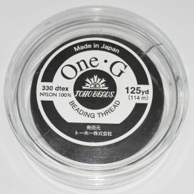 Toho nylon tråd One-G sort