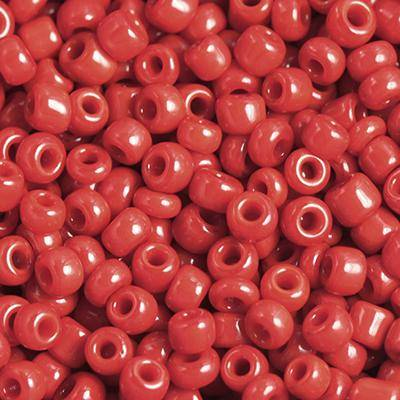 glass seed beads dark red 2 mm