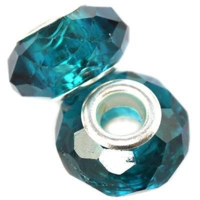 modular beads crystal sapphire 10 x 14 mm