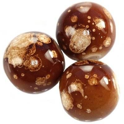 glass beads galactic chocolate 14 mm
