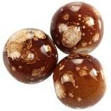 koraliki galactic czekoladowe 14 mm