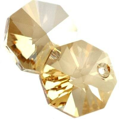 Swarovski octagon pendants crystal golden shadow 12 mm
