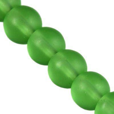 Perles Frosted vert 8 mm