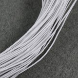 elastic jewelry rubber white 0.8 mm