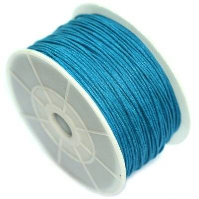 sznurek bawełniany błękitny 1 mm