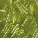 glass beads tubes forest green 9 mm