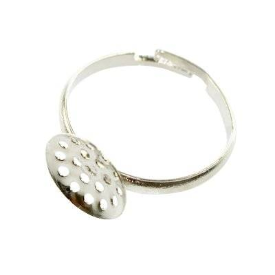 adjustable ring - small sieve jewellery findings