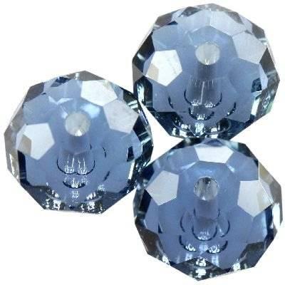 Swarovski briolette beads denim blue 6 mm