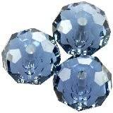 Swarovski briolette beads denim blue 6 mm