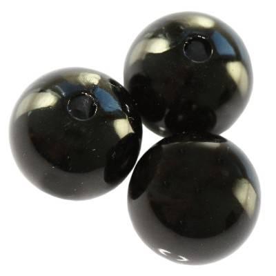 plastikowe perełki czarne 12 mm
