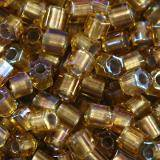 Toho beads hex gold-lined rainbow topaz 2 mm TH-11-278