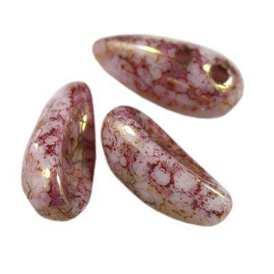 Koraliki Preciosa Chilli marble purple pink 11 x 4 mm