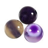 agat gładki purpurowy 6 mm kamień półszlachetny naturalny barwiony
