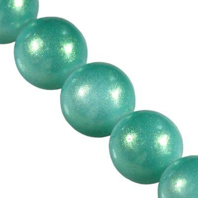 Beads Gold Powder Classic turquoise 6 mm