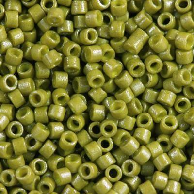Miyuki Delica beads duracoat opaque dyed spanish olive 1.6 x 1.3 mm DB-2141