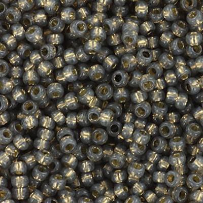 Miyuki round beads silverlined alabaster dyed rustic gray 11/0