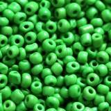 glass seed beads dark olive green 2 mm