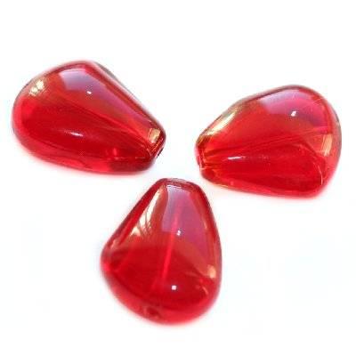 żagielki czerwone 15 x 12 mm / koraliki szklane