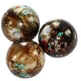 round fancy plastic brown - black 12 mm