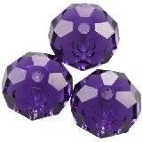 Swarovski briolette beads purple velvet 6 mm