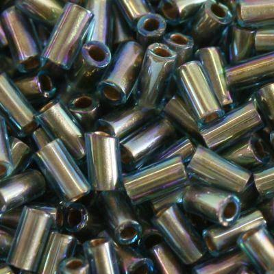 koraliki Toho bugle gold-lined rainbow aqua 3 mm TB-01-995