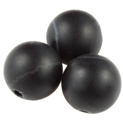 agate beads mat black 10 mm / semi-precious stone