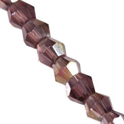 améthyste Crystaline toupies AB 2 mm / perles de cristal