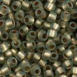 Toho beads round gold-lined frosted black diamond 2.2 mm TR-11-999F