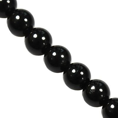 black tourmaline beads 4 mm / semi-precious stone